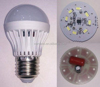 12w component part for LED plastic bulb
