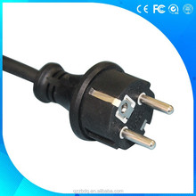 VDE shuko plug power cord with H05VV-F cable