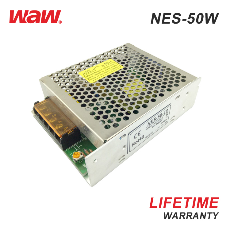 24v 2.2a 50w NES-50-24 ac to dc 110V/220V Switching Power Supply CCTV power supply with CE ROHS approved