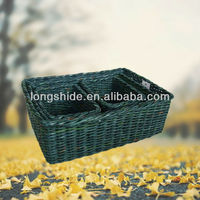 Color Newspaper Woven Basket Sundries Storage