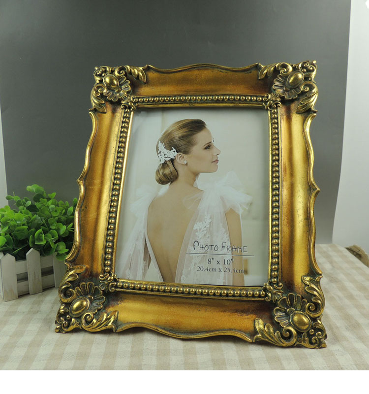 Large 20x25 Gold Wedding Photo Frame for Party Decor
