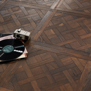 High Quality UV Finish oak wood flooring art parquet