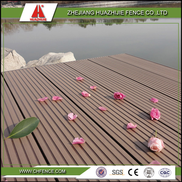 WPC plastic outdoor deck flooring