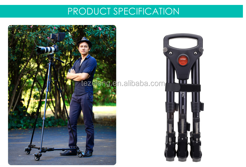 Yunteng 900 pulley alloy professional DV wheel camera casters Micro film equipment tripod wheel accessories Tripod Dolly