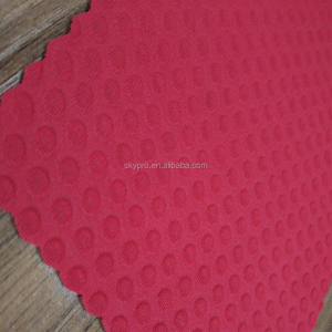 Waterproof embossing neoprene fabric different pattern hot shark skin with diamond Circular Both sides lycra SBR