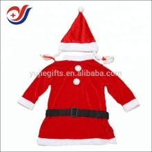 Hot selling plush santa claus dress custom christmas mascot costumes for men women girl kids