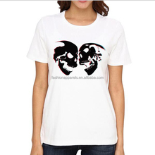 Bulk New Model Silk Screen Printed Fancy Design Custom Women T Shirt Wholesale