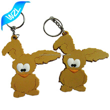 2017 Wholesale custom cartoon 3D soft PVC keyring engrave mold silicone keychains