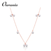 Latest Pearl Necklace For Woman Romantic Jewelry Choker Rose Gold Color with Big Bead