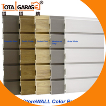 Hot sale heavy duty 200kg sqm wall storage slatwall <strong>panel</strong>