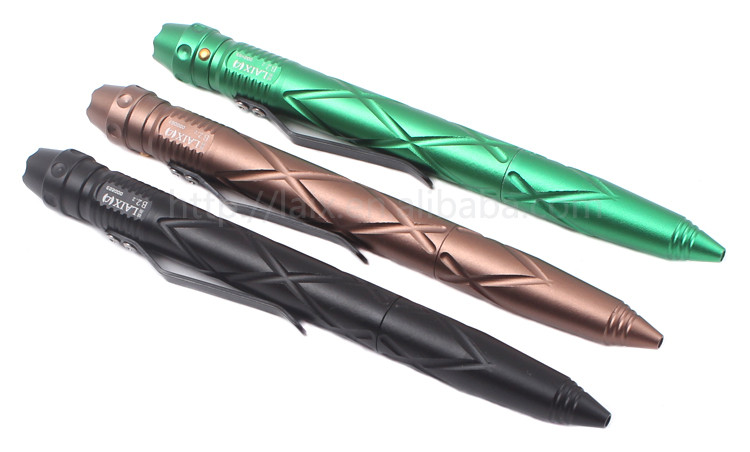 LAIX Hot Sale Tactical Pen With LED Light Aluminium Multifunction Self Defense Pen Wholesale Customization Manufacturers