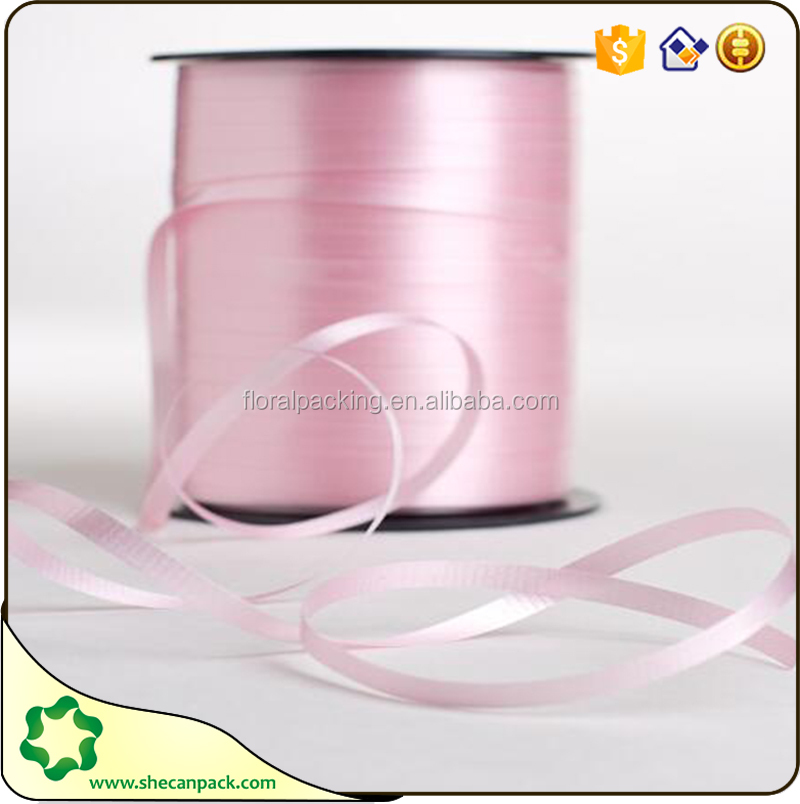 SHECAN DIY gift Holiday decorative balloon glitter pink curling ribbon
