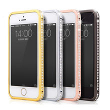 LUXURY DIAMOND CRYSTAL BLING METAL ALUMINUM BUMPER CASE COVER FOR APPLE IPHONE 5 5G 5S