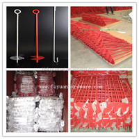 Powder coated and hot dip galvanized screw tie down earth anchor for fence with good quality