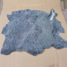China wholesale curly lamb shearling leather fur pelt