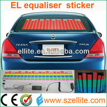 New! hot sale sound music activated car stickers equalizer