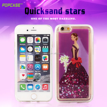 Shinning Bling TPU Liquid Quicksand Glitter Star Phone Case For iPhone 6