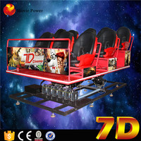 Movie Power Amusement Pack Machine 5d 6d 7d Cinema 6/8/9 Seats 7d Cinema