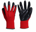 2016 MHR 13 Guage Red Nitrile Work Glove ,CE Certification work glove