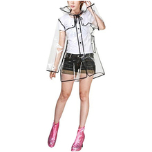Clear Transparent Transparent Long Pvc Raincoat, Runway Style Japanese and South Korean Style Man Woman Couple EVA Raincoat