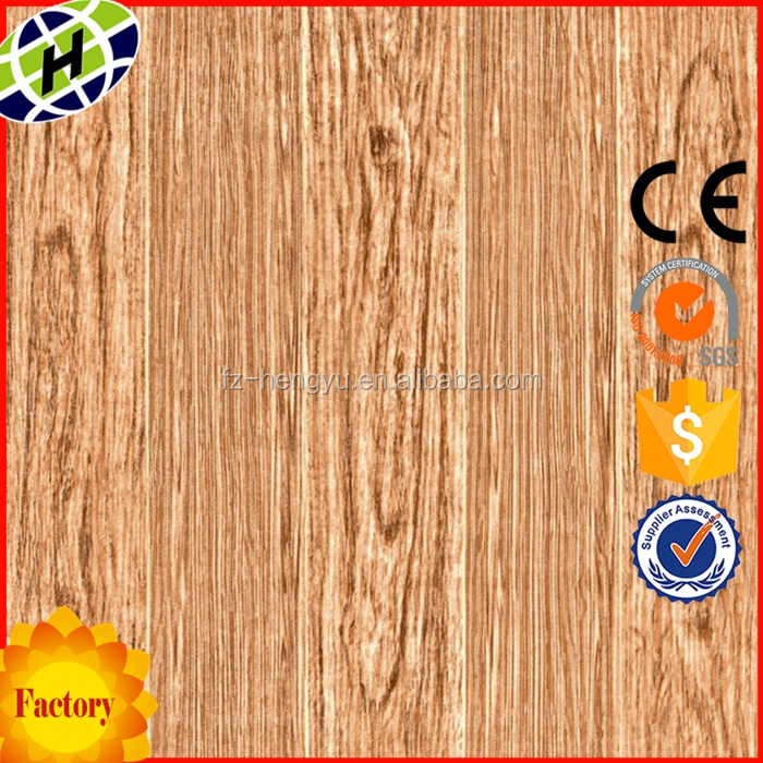Interior living room 60x60 high gloss ceramic wooden floor tile