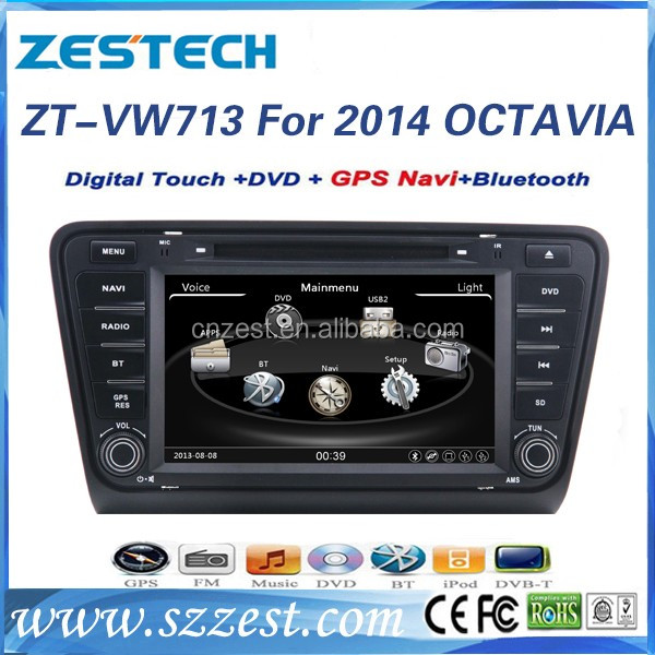 wince 6.0 android system car radio with gps for skoda octavia 2014 2015 car radio DVD GPS navigation USB SD TV MP3 CD AUX BT RDS