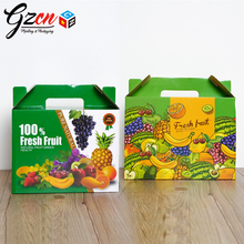 customized size print full color carrier fruit corrugated carton box