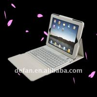 Bluetooth Silicone Wireless Keyboard for Ipad with Leather Case