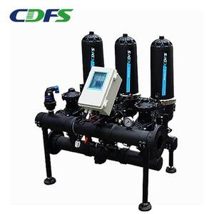 Automatic backwash disc filter for drip irrigation system