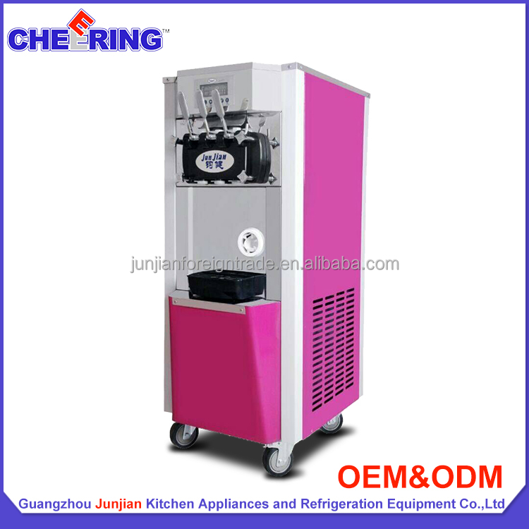 Mobile instant commercial soft serve ice cream maker machine