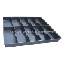 Electronics Antistatic/ESD Black Packing Tray