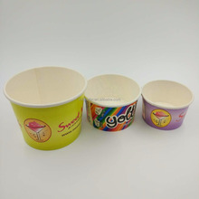 China wholesale 12 oz custom cold smoothie paper ice cream frozen yogurt cup