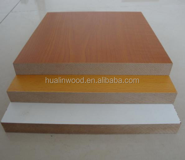 laminated mdf board faced iwith melamine paper/uv coated