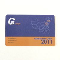 Best Quality Cheap PVC Plastic Business Card with one side silver backgroud
