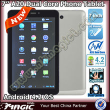 Hot 2g phone A20 bulk wholesale android 4.2 tablet pc