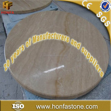 Factory price round travertine stone table top from China