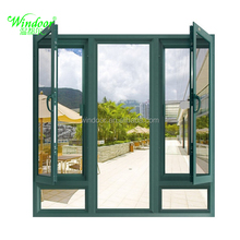 Insulated glass aluminum casement windows with internal blinds