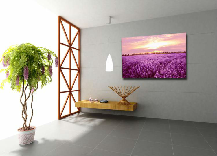 Promotional Lavender Images Printing on Canvas,Flower Canvas Painting,Sunset Scenery Canvas Art