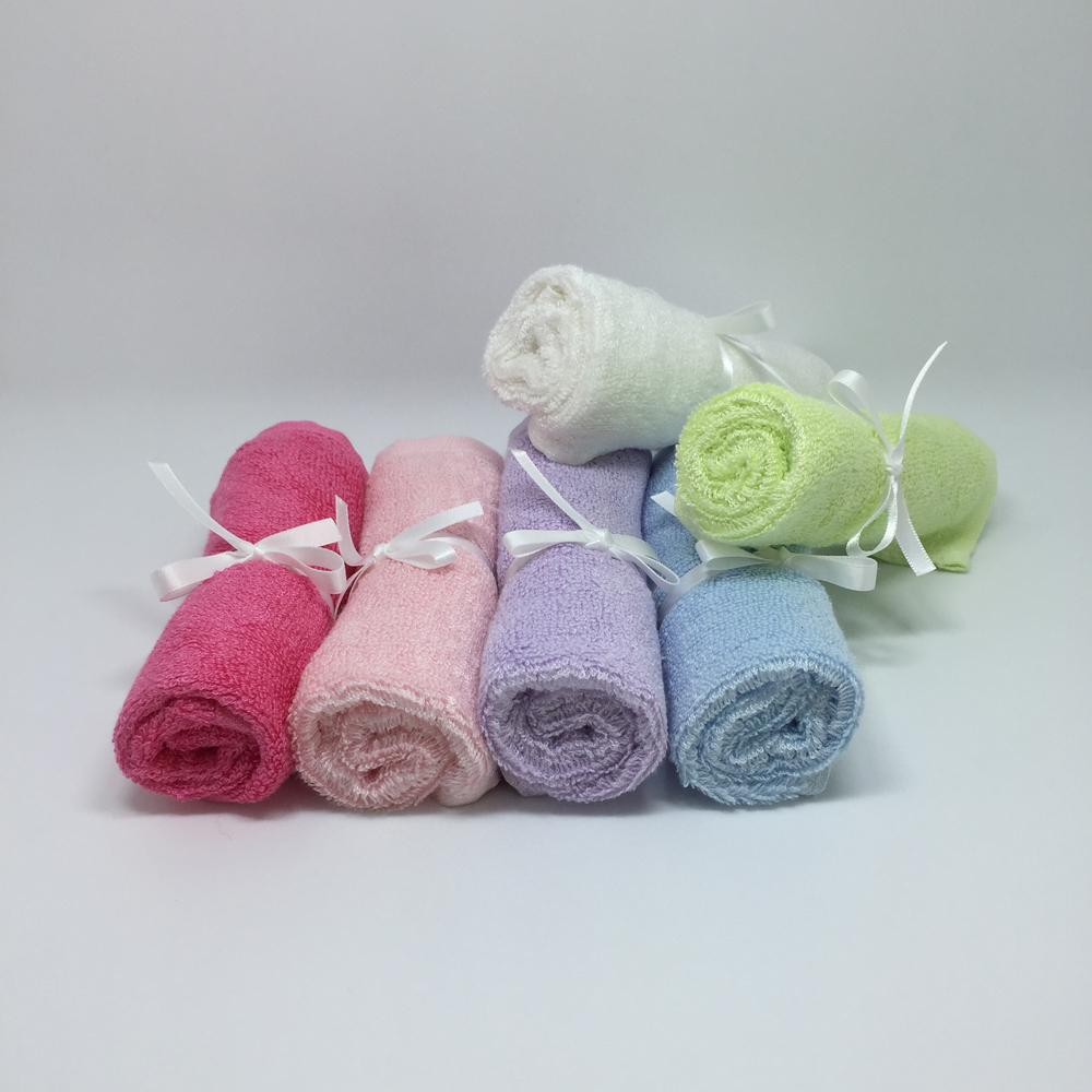 "10""x10""Super Soft baby towel Gift Packing Bamboo Baby Washcloths"