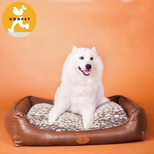 Oxford fabric pet dog bed PU waterproof inside Breathable pet Cushion