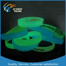 glow in the dark silicone wristband cheap price wholesale