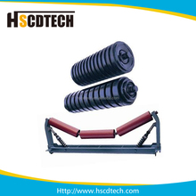 Rubber coating impact conveyor roller