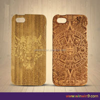 2015 new style laser carving original real wood cover mobile phone case cover for iphone