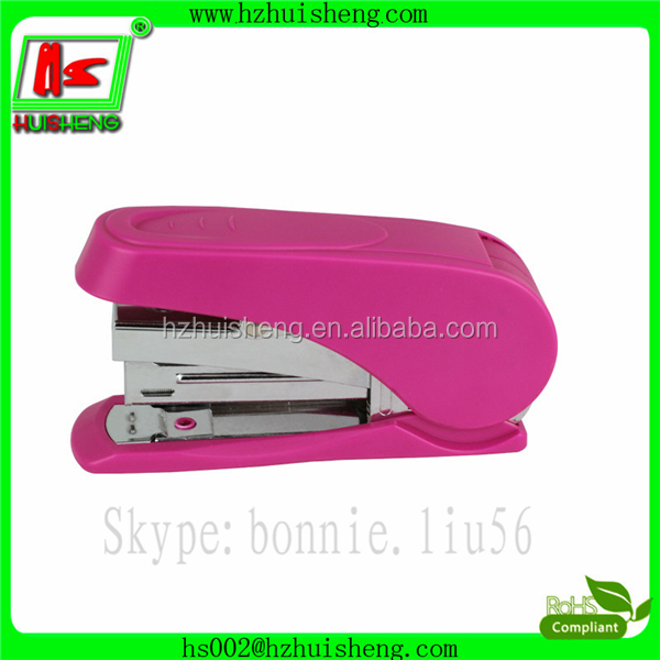 office stationery item less force mini stapler, plastic stapler with staple