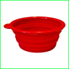 Useful silicone collapsible water pet bowl for outdoor drinking bowl