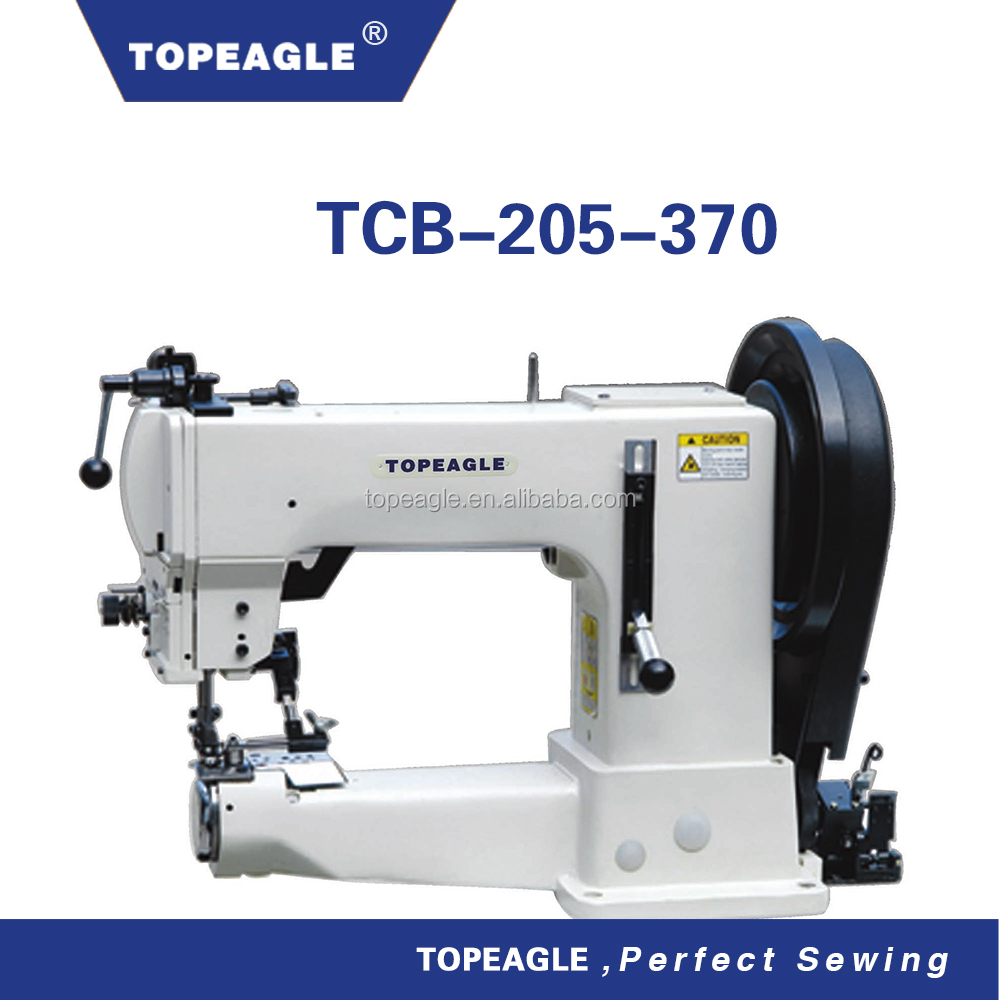 TOPEAGLE TCB-205-370 single needle compound feed walking foot cylinder arm sewing machine heavy duty