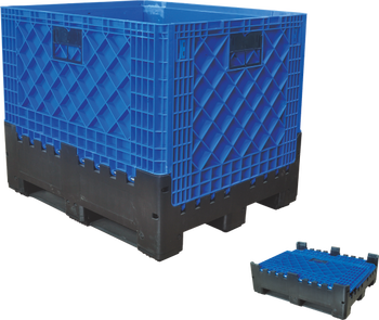 Best price Foldable large plastic pallet boxes for sale