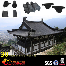 Japanese style ancient building material grey clay roof tiles
