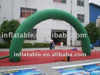 Inflatable green advertising entrance arch for advertising