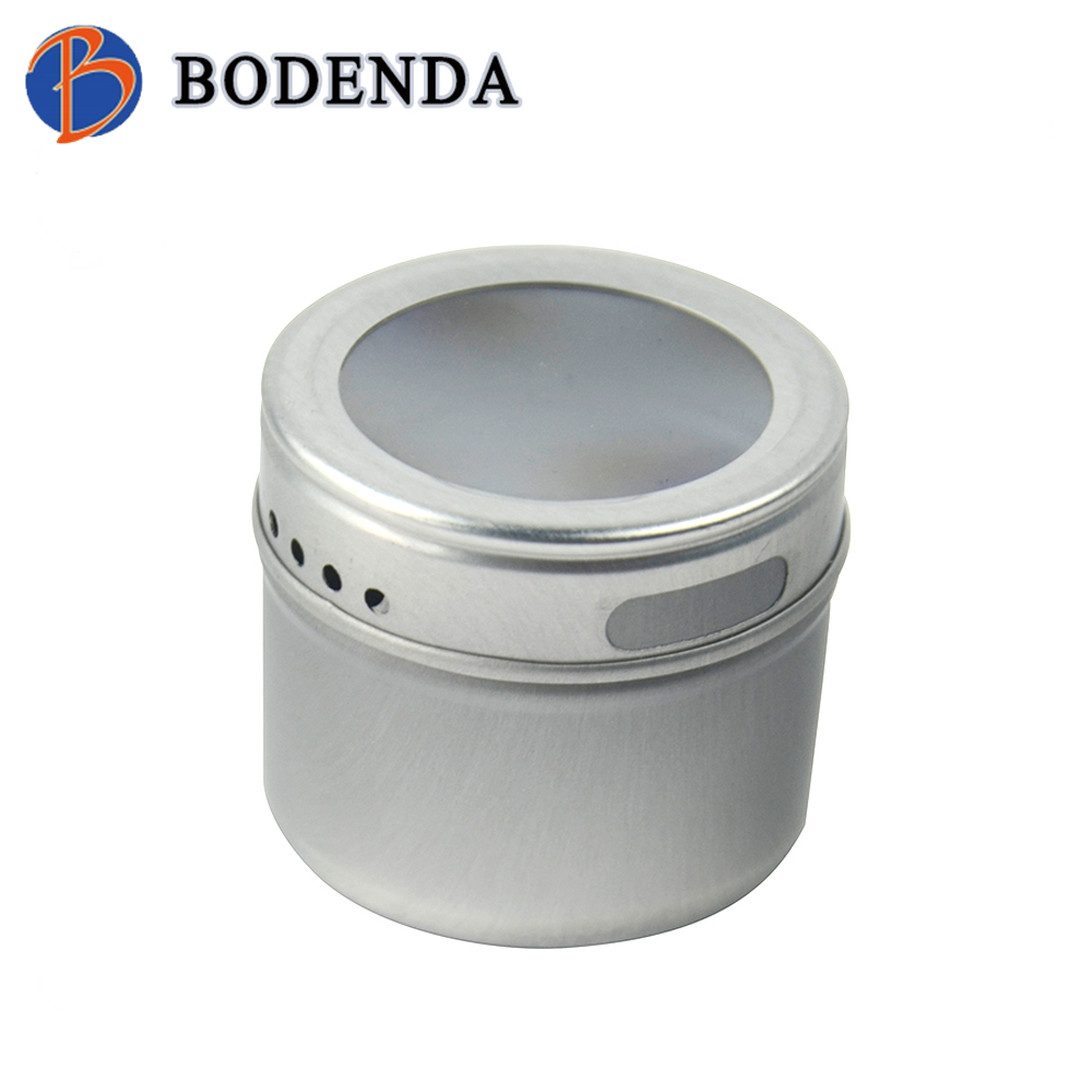 tin spice packaging containers with PVC window